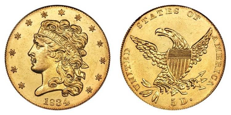 5 US dollar1834-1838-min
