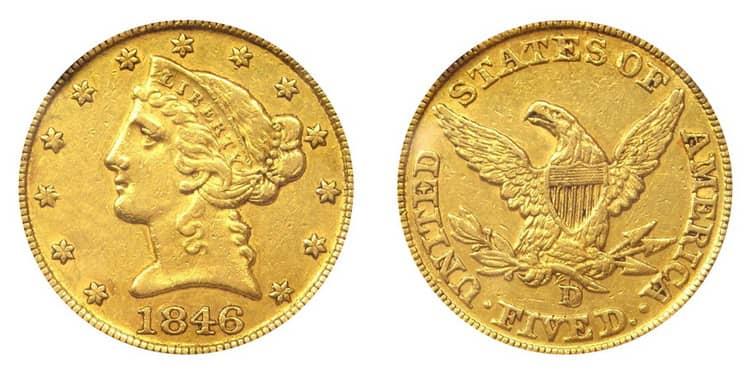 5 US dollar1838-1866-min