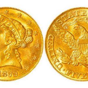 5 US dollars coins