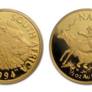 Монеты ЮАР из золота и серебра