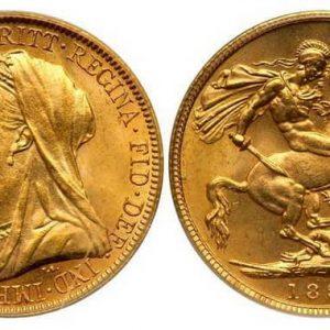 Британские монеты королевской чеканки из золота