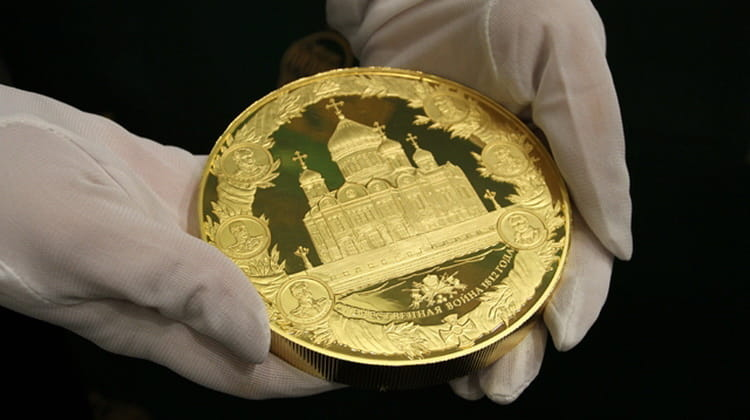 Modern gold and silver coins of Russia