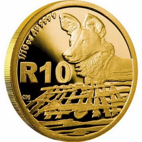 Монета «Африканский золотой волк», чеканка 2012 г.