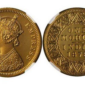 Монеты 1 индийский мухр