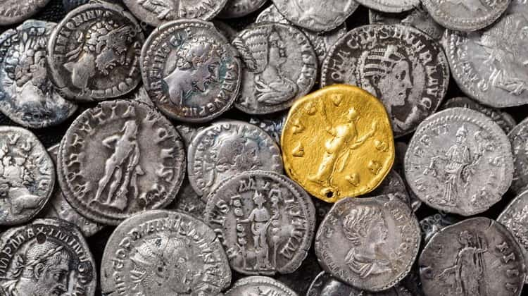 Gold and silver coins of the Roman Empire