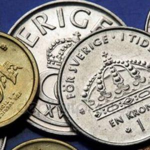 Монеты Швеции из золота и серебра