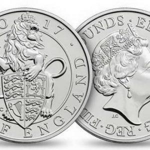 Серия монет из серебра Звери королевы