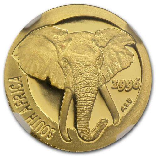 Монета «Слон», чеканка 1996 г.