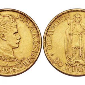 Монеты 20 норвежских крон