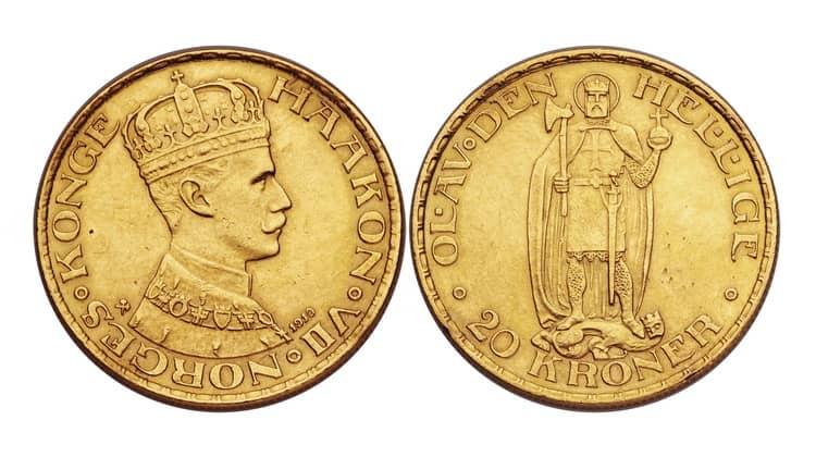 20 Norwegian kroner (1874-1902)