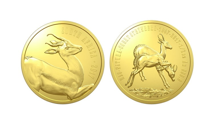 Золотые монеты ЮАР серии Природа