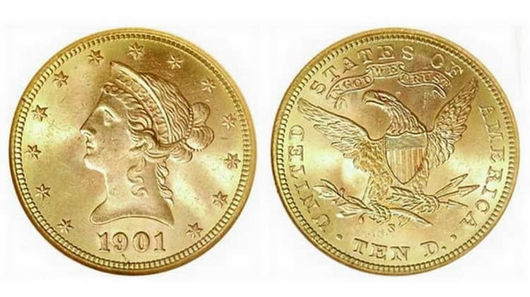 10 US dollars coins
