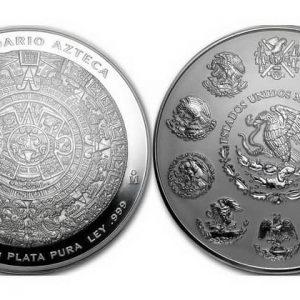 Серия монет Мексики Серебряный Ацтек