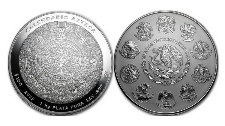 Mexican Coins Silver Aztec Series