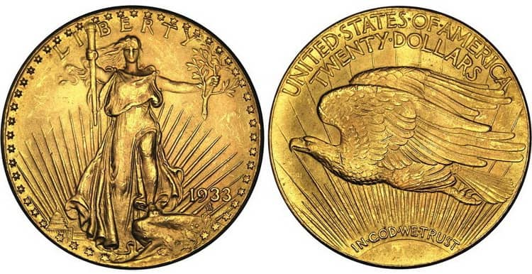 The 1933 year of minting