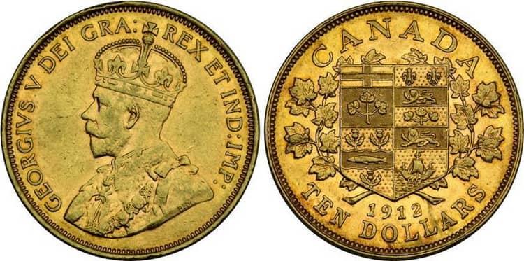 10 Canadian dollar coins