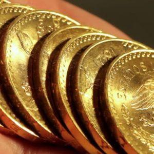 старинные золотые мексиканские песо