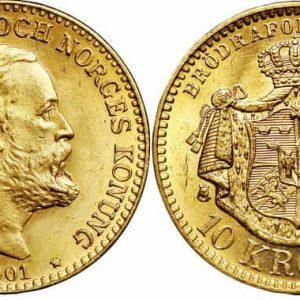 10 шведских крон (1873-1901)