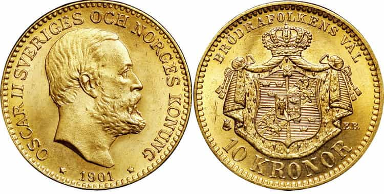 10 Swedish kronor (1873-1901)