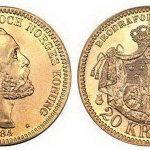 20 шведских крон (1873-1902)