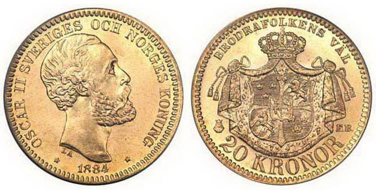 20 Swedish Kronor (1873-1902)