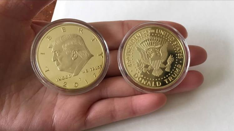 золотая монета президента