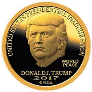 Золотая монета Трампа