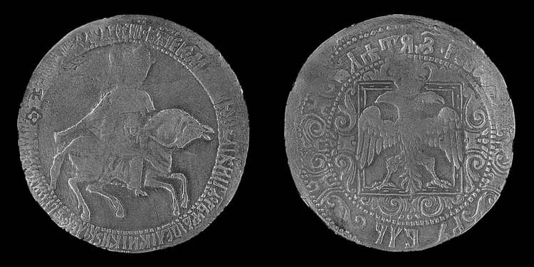 монета ефимок талер 1658