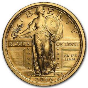 Золотая монета к столетию Стоящей свободы 2016 года