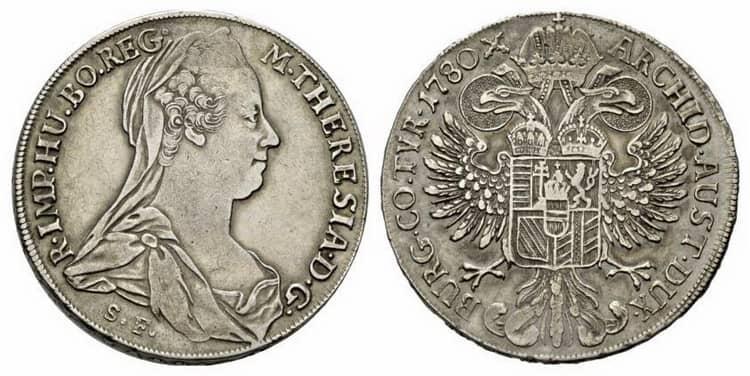 серебряный талер германии