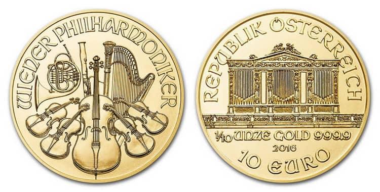 золотая монета 1 10 унция