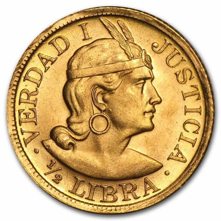 1-2 Peruvian libra (1898−1969)