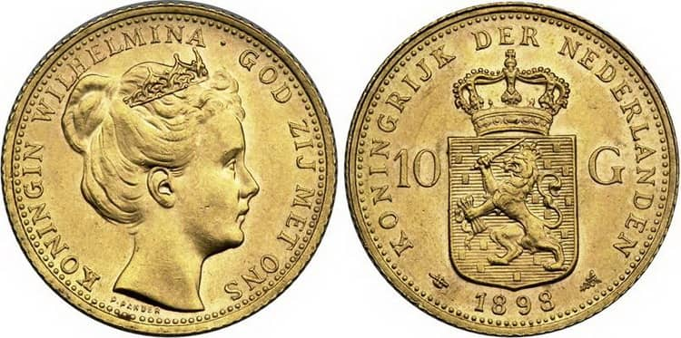 10 Gulden Gold Kingdom of the Netherlands 1815