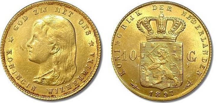 10 Gulden Gold Kingdom of the Netherlands 1815