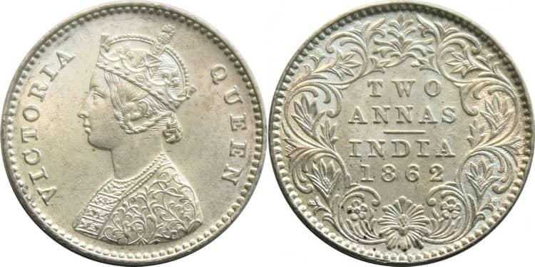 Серебряная монета Англии в Индии