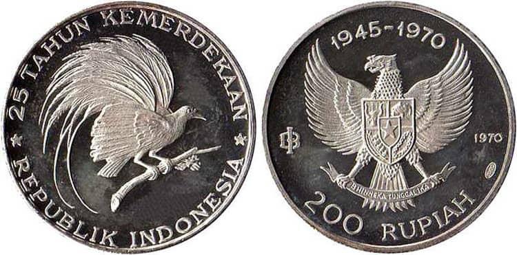 Серебряные монеты Индонезии 1945-1970 годов