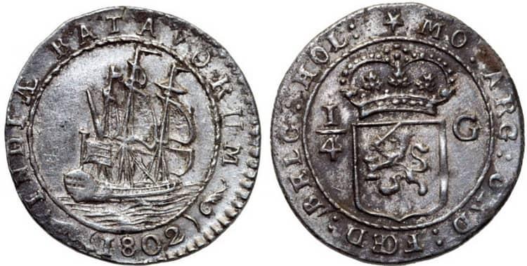Серебряные монеты Индонезии 1802 года