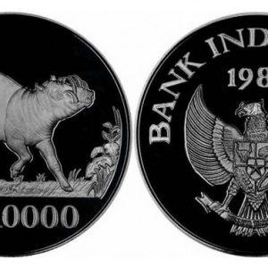 Серебряные монеты Индонезии
