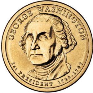 Золотая монета Джорджа Вашингтона