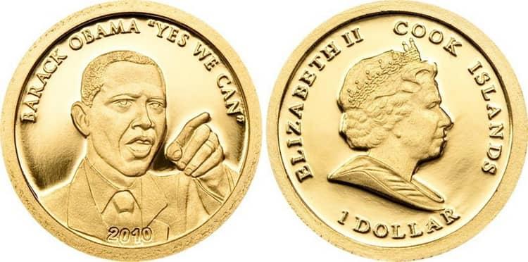 Особенности золотой монеты Обамы