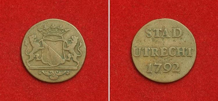 Золотая монета Индонезии 1792 года