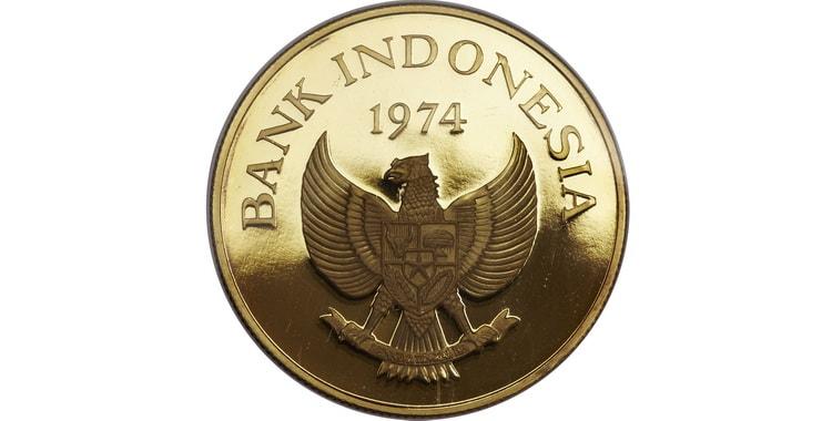 Золотые монеты Индонезии