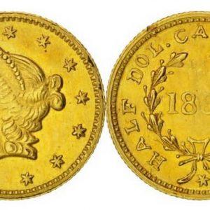 Золотые монеты Калифорнии