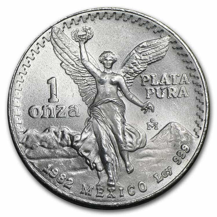 mexican silver libertad coin 1982