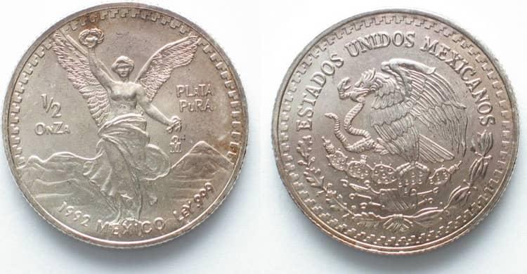 mexican silver libertad coin 1992
