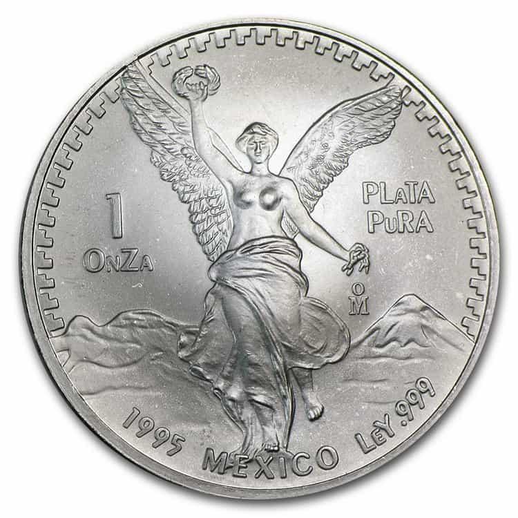mexican silver libertad coin 1995