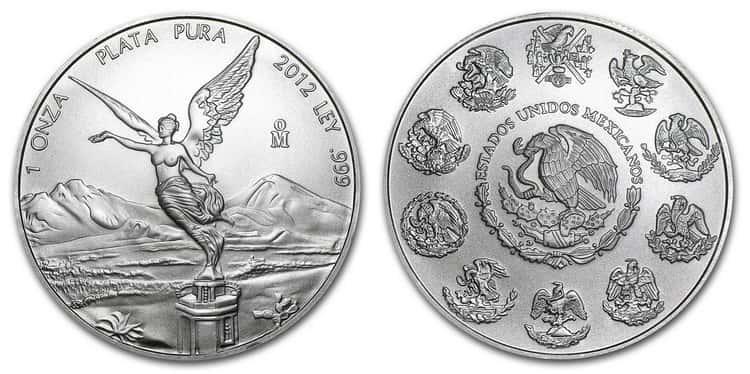 mexican silver libertad coin 2012