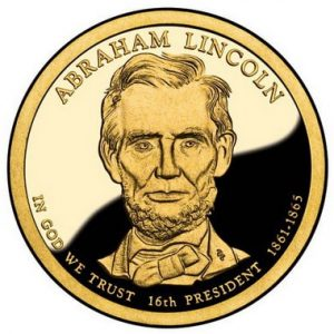 Золотая монета Авраама Линкольна
