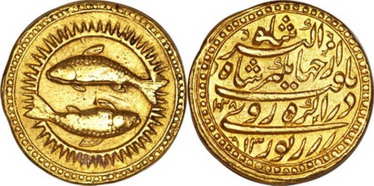Индийская золотая монета
