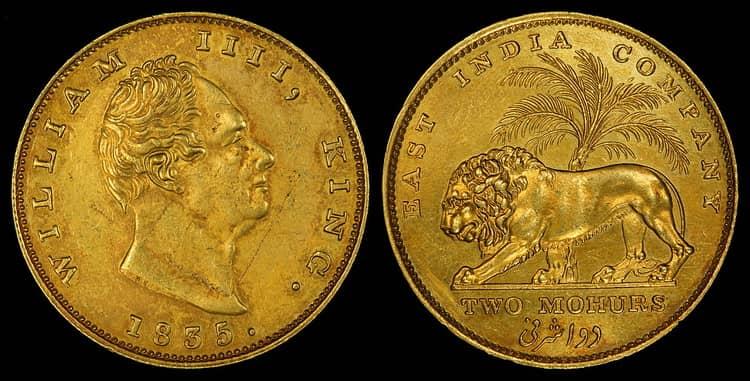Особенности золотой монеты Индии 1 мухр